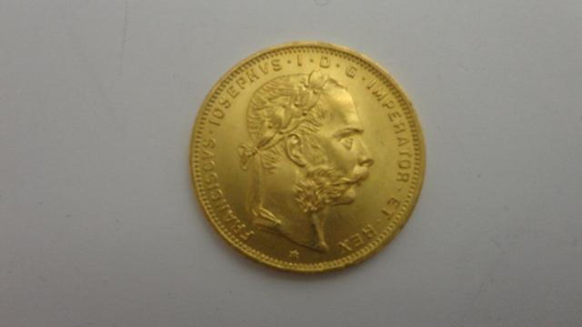 Moneda Oro 1892 Franciscvs Iosephvs Idg