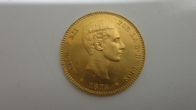 Moneda Oro 1878 Alfonso Xii