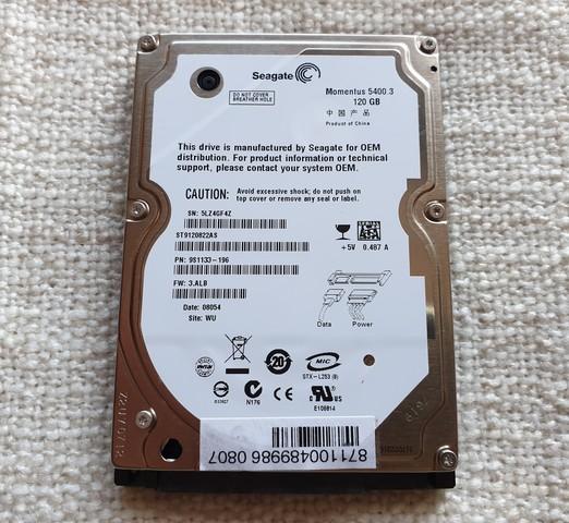 DISCO DURO HDD 2. 5 SAMSUNG HM121HI 120GB - foto 1