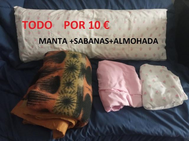 LOTE DE MANTA,  SABANAS Y ALMOHADA 10 - foto 1
