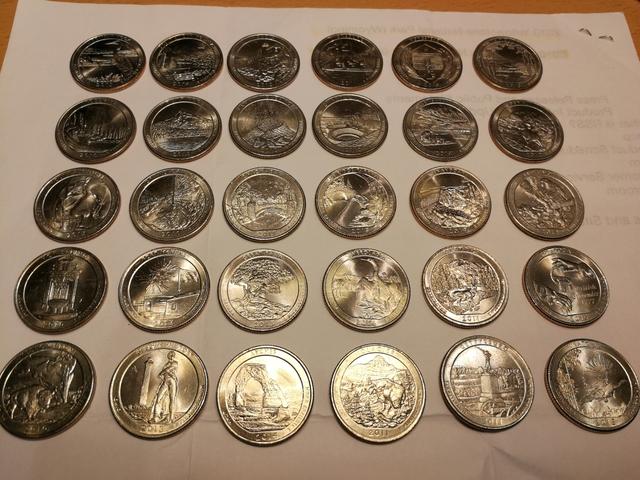 Colección Monedas Cuarto Dollar