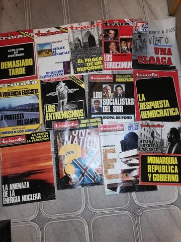 Antiguas Revistas Triunfo Años 70