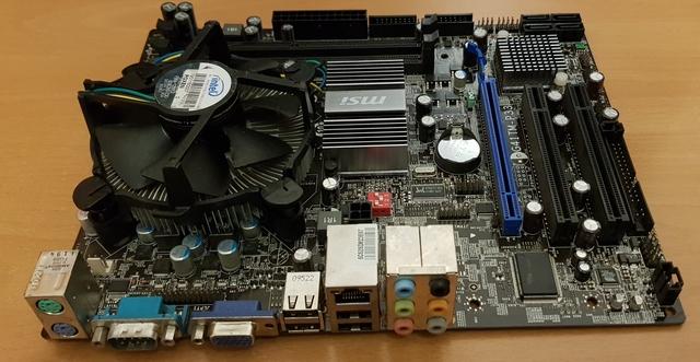 PLACA  BASE MSI G41 TM-P33+CPU - foto 2