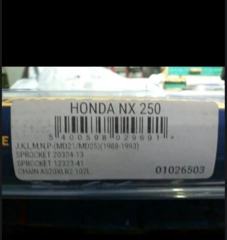 JT O-Ring Chain 13-41 Sprocket Kit for Honda NX250 1988-1990