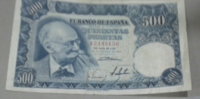 Billete 500 Pesetas Año