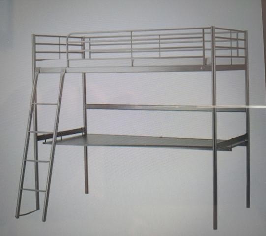 LITERA IKEA CON ESCRITORIO COLOR GRIS., usado segunda mano  Catarroja