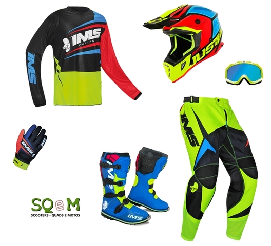 TRAJE MOTOCROSS IMS + JUST1 - foto 1
