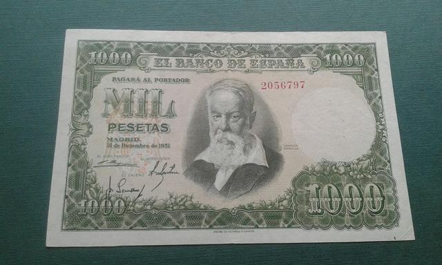 Billete 1000 Pesetas Año 1951.Sin Serie