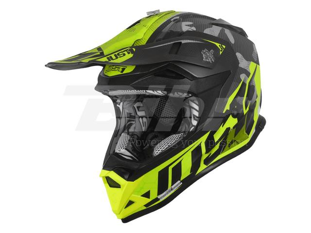 CASCO CROSS JUST1 J32 CAMO AMARILLO FLUO - foto 1