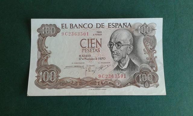 Billete 100 Pesetas Año 1970.Serie 9C.