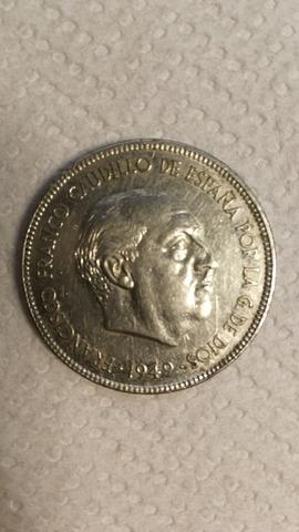 Moneda 5 Pesetas 1949 Estrella 49