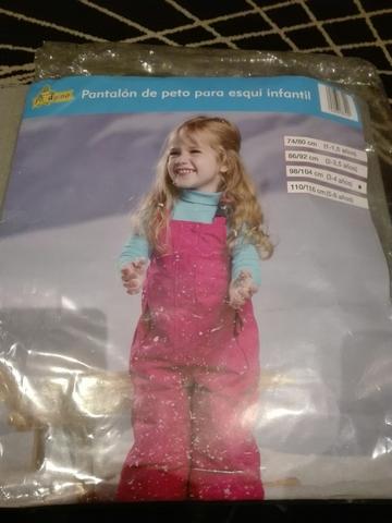 PANTALON PETO DE ESQUI INFANTIL 3/4 AÑOS - foto 1