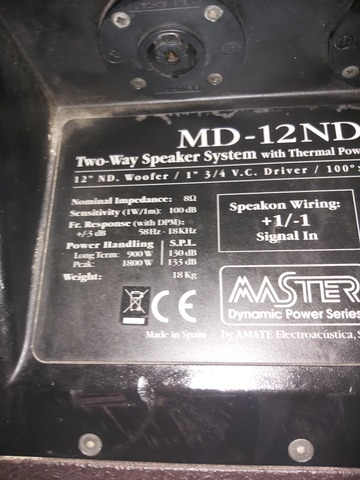 EQUIPO MÁSTER AUDIO  MD12ND2 Y MD15SW - foto 4