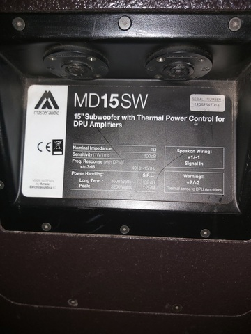 EQUIPO MÁSTER AUDIO  MD12ND2 Y MD15SW - foto 5