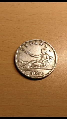 2 Monedas De 2 Pesetas 1870