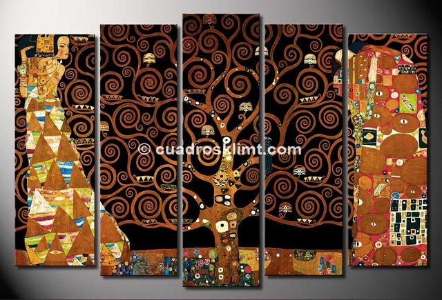 El Arbol De La Vida 5 Cuadros Mosaico