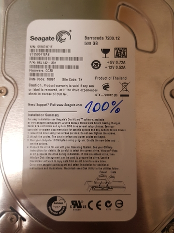 DISCO DURO SEAGATE 500GB 3, 5 INTERNO - foto 3