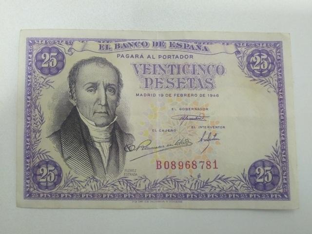 Billete 25 Pesetas Flórez Estrada 1946