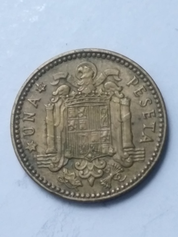 Moneda 1 Peseta 1953*62 Franco