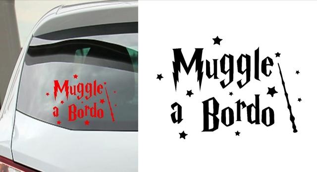 Little muggles a bordo de Harry Potter Pegatina de Coche