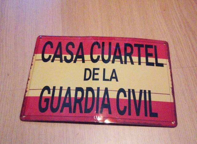 Cartel Casa Cuartel Guardia Civil