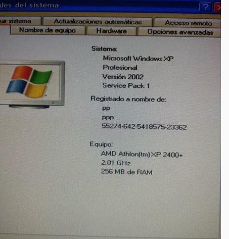 ORDENADOR PC SOBREMESA TORRE XP PRO AMD - foto 1