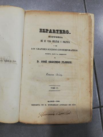 ANTIGUO LIBRO ESPARTERO 1848 - foto 4