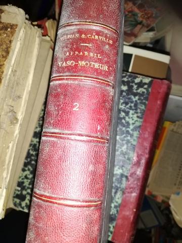 Libro Appareil Vaso-Moteur Año 1875