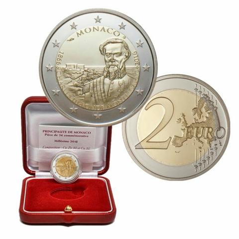 4Grandes Monedas De 2 E Proof De Mónaco: