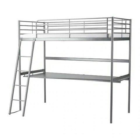LITERA CON ESCRITORIO SVARTA DE IKEA, usado segunda mano  Toledo