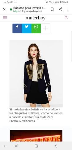 chaquetas militares de mujer zara