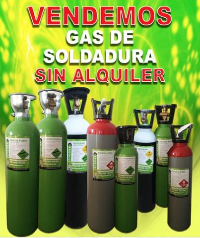 Botellas Gas Soldar - Sin Contrato