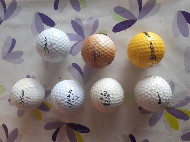 7 Pelotas De Golf Usadas