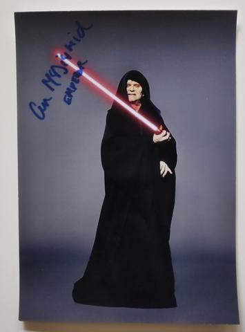 Foto Autografiada Emperador Star Wars