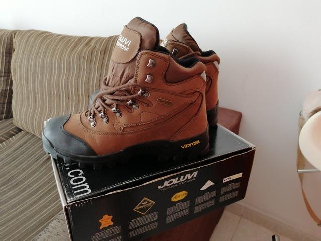 Zapato de Trekking Montaña de Piel Serraje talla 39 40 41 42 43 44 45 46 España
