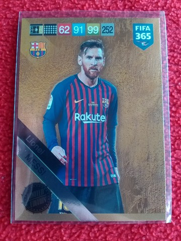 Panini Fifa 365 edición limitada de 2019 Lionel Messi Barcelona