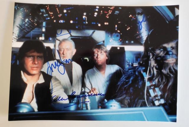 Foto Autógrafos Star Wars