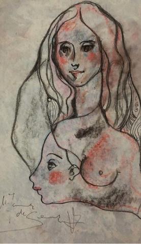 DIBUJO ORIGINAL MIQUEL TORNER ,  FEMENINA - foto 1