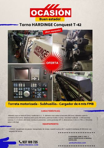 TORNO DE OCASIÓN HARDINGE CONQUEST T-42 - foto 1