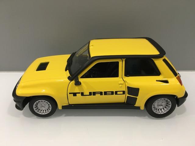 Coche Renault 5 Turbo Amarillo Esc 1/24