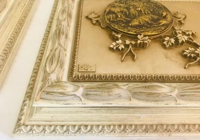 3 brazos estilo antiguo 20x14cm 2 candelabros candeleros sin usar Italy