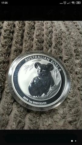 Moneda 1 Onza Plata Koala 2019