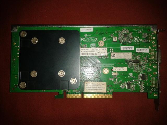 TARJETA GRÁFICA XFX 7800 GS AGP 8X 256MB - foto 2