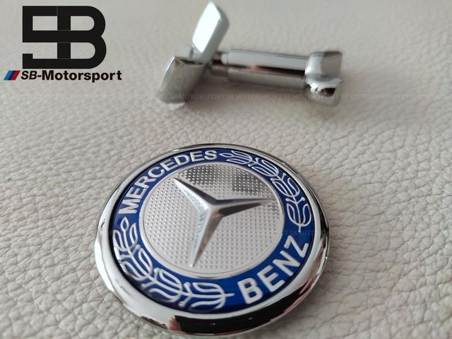 Mercedes Benz Aleación Centro De Rueda Caps 75mm conjunto de 4 Cromo Negro una clase C E S