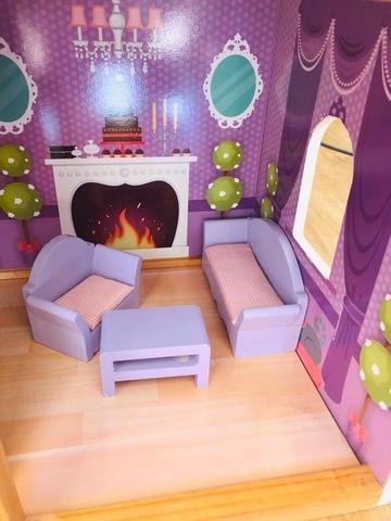 13 piezas de munecas en miniatura muebles madera epoca Dormitorio Bano Nursery 7
