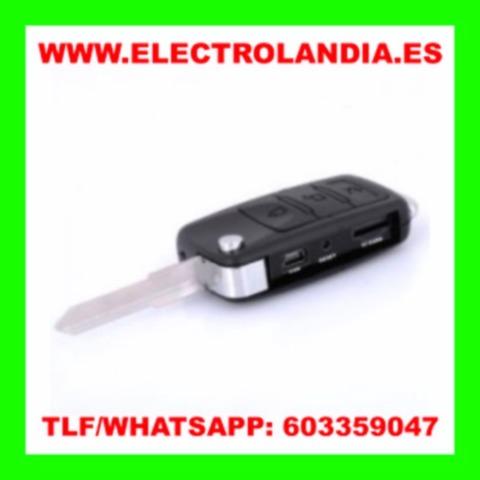 Electrolandia/® Llave de Coche Camara Oculta HD