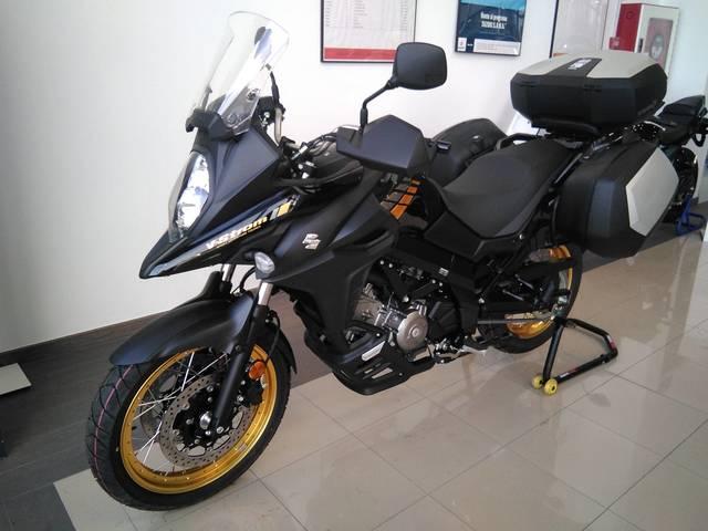Kit de protectores laterales de dep/ósito para Suzuki V-Strom 1000 Protectores de dep/ósito para Suzuki CL-003 negro