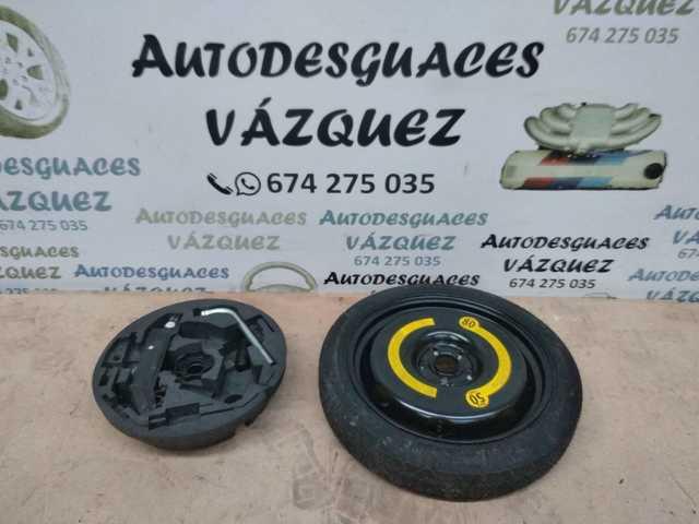 """kit rueda de repuesto galleta 17/"""" para MERCEDES CLASE B con gato llave y bolsa"""