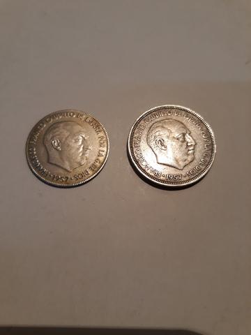 Antigua Moneda De 5 Pesetas Con Error