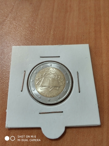 Moneda 2 Euros Portugal 2007 Tratado Rom